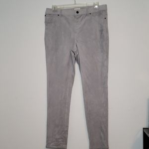 Chico's faux suede gray pants
